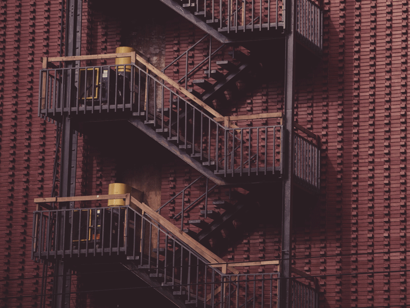 Fire escape at a building