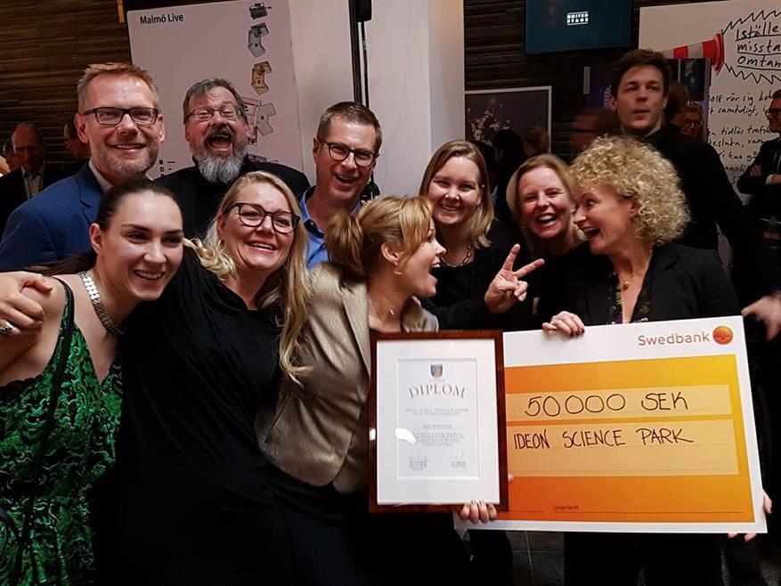 Ideon vinner Region Skånes pris för Synnerliga insatser för Skånes utveckling 2017