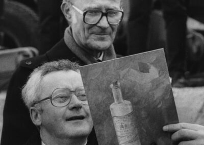Ingvar Kamprad and Kjell-Olof Feldt at Ideon Opening in 1984