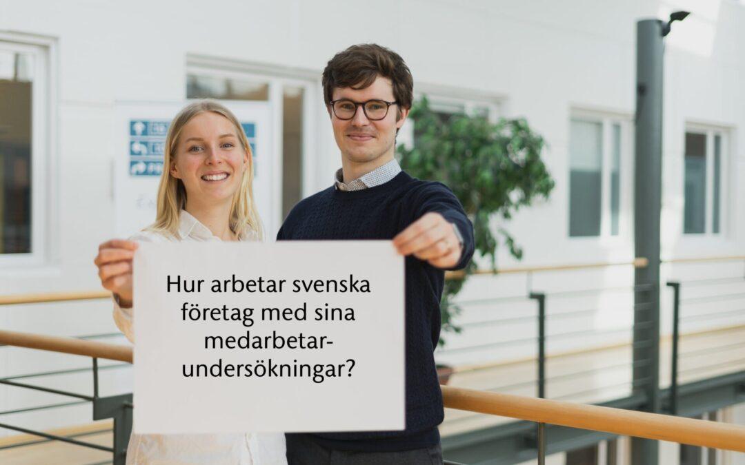 Hur arbetar svenska företag med sina medarbetarundersökningar