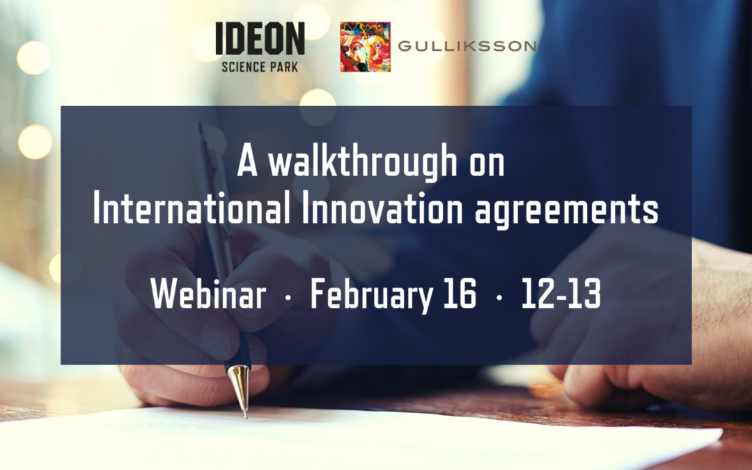 A walkthrough on International Innovation agreements