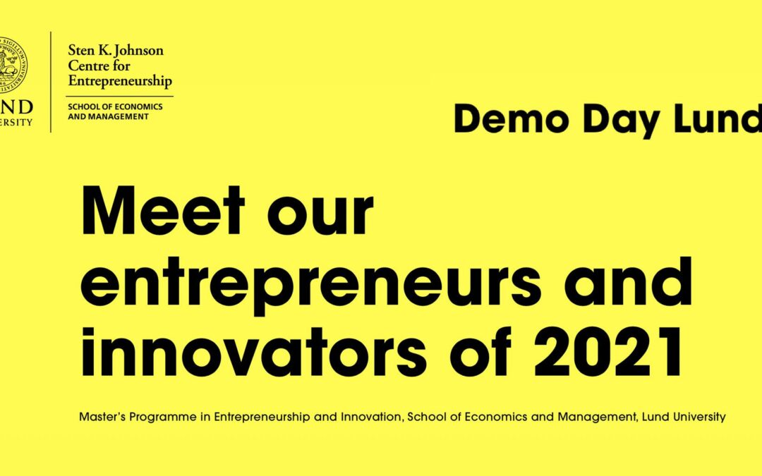 Demo Day Lund 2021 – join us online!