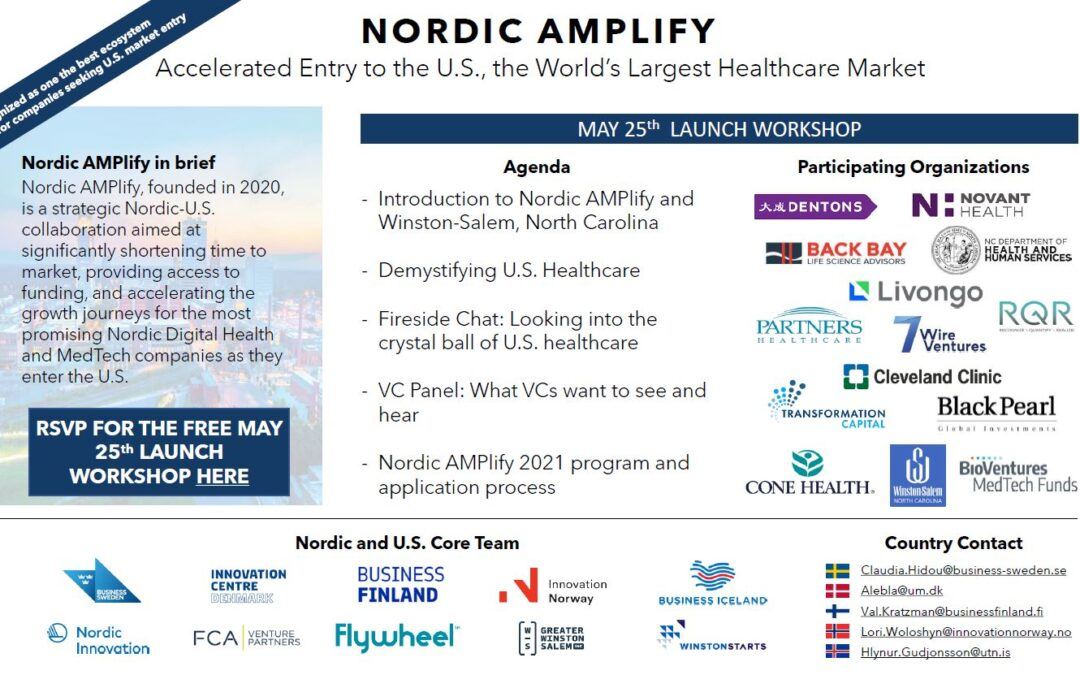 Nordic AMPlify 2021 Launch Webinar: Accelerated U.S. Market Entry