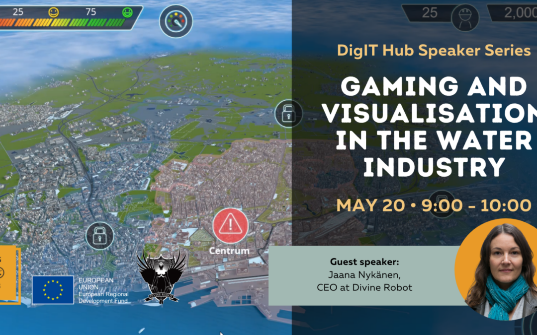 DigIT Hub Speaker Series: Gaming and Visualisation in the Water Industry