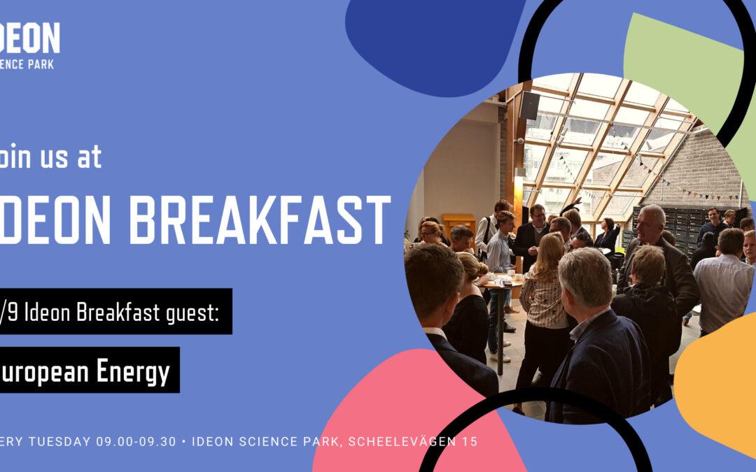 Ideon Breakfast with European Energy