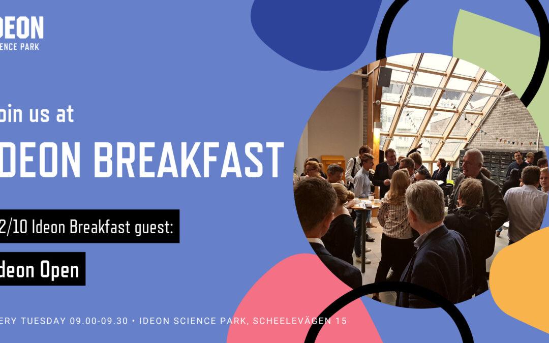 Ideon Breakfast with Ideon Open