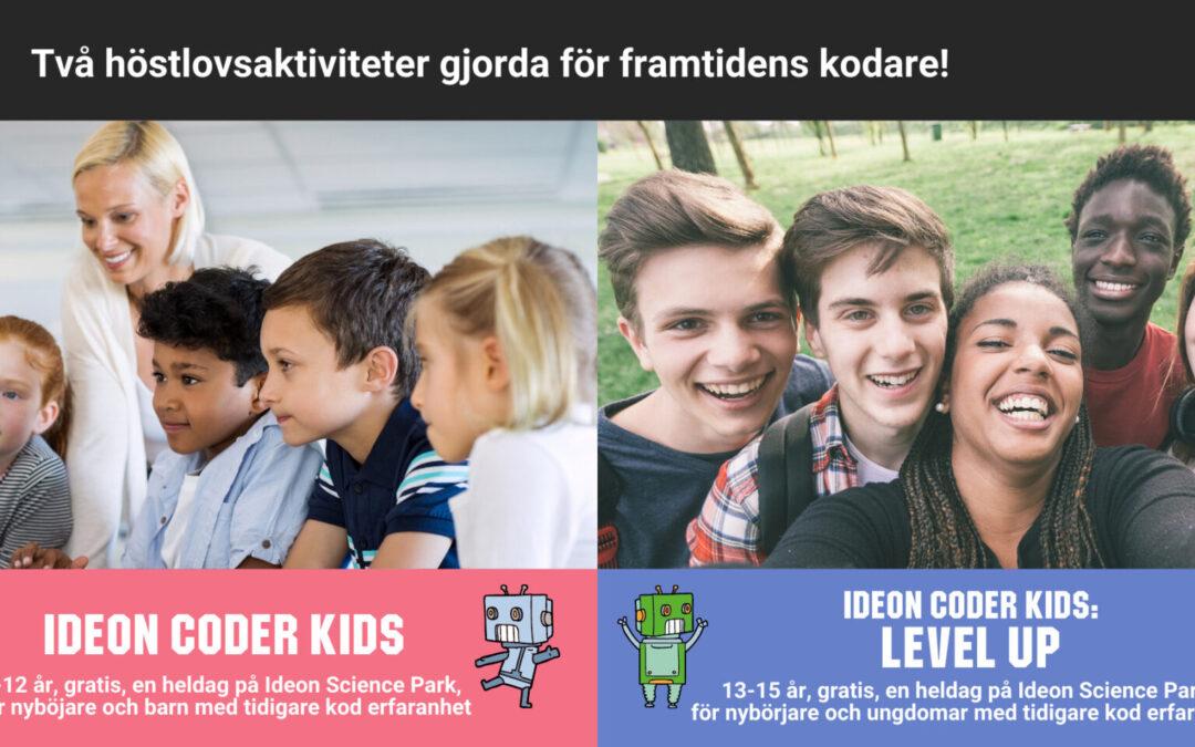 Ideon Coder Kids – Kom och koda på höstlovet!